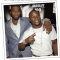 rapper, 50cent and boxer Floyd Mayweather fighting
