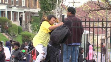 MOTHER KICKS HER SONS ASS FOR RIOTING IN BALTIMORE