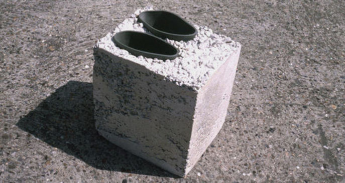 how to get concrete off shoes