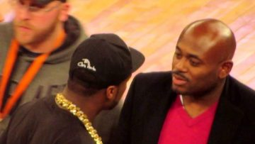 Check Out 50 Cent Confronting Steve Stout At A Knicks Game!! Cast Of 'Power' Was There Too!! [Video]