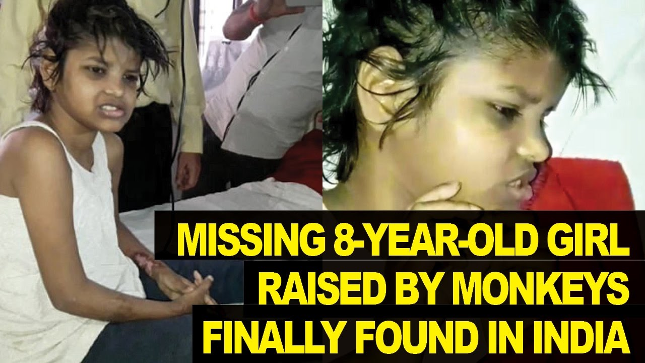 Indian Girl Found Raised By Monkeys In The Jungle