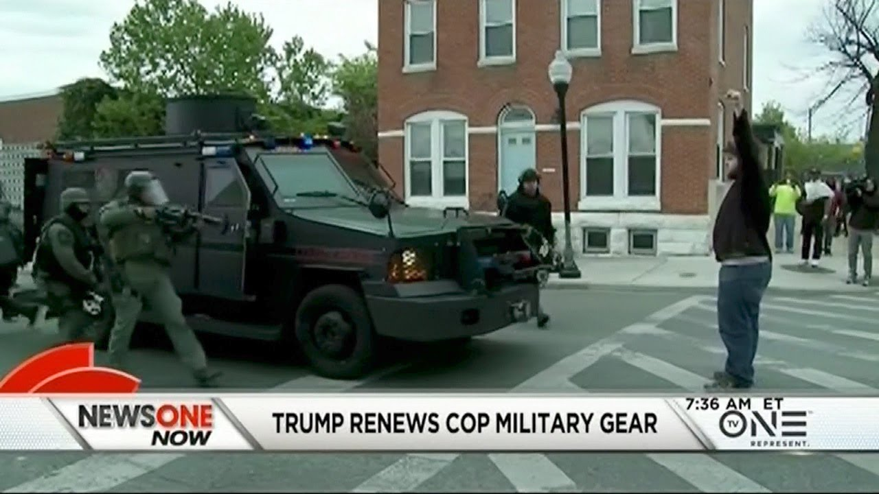 Trump Renews Program That Gives Cops Surplus Military Gear