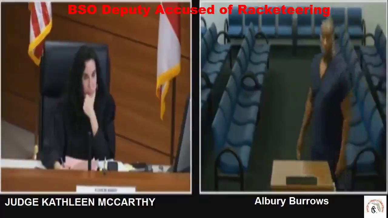 Broward Deputy Albury Burrows Arrested For Racketeering