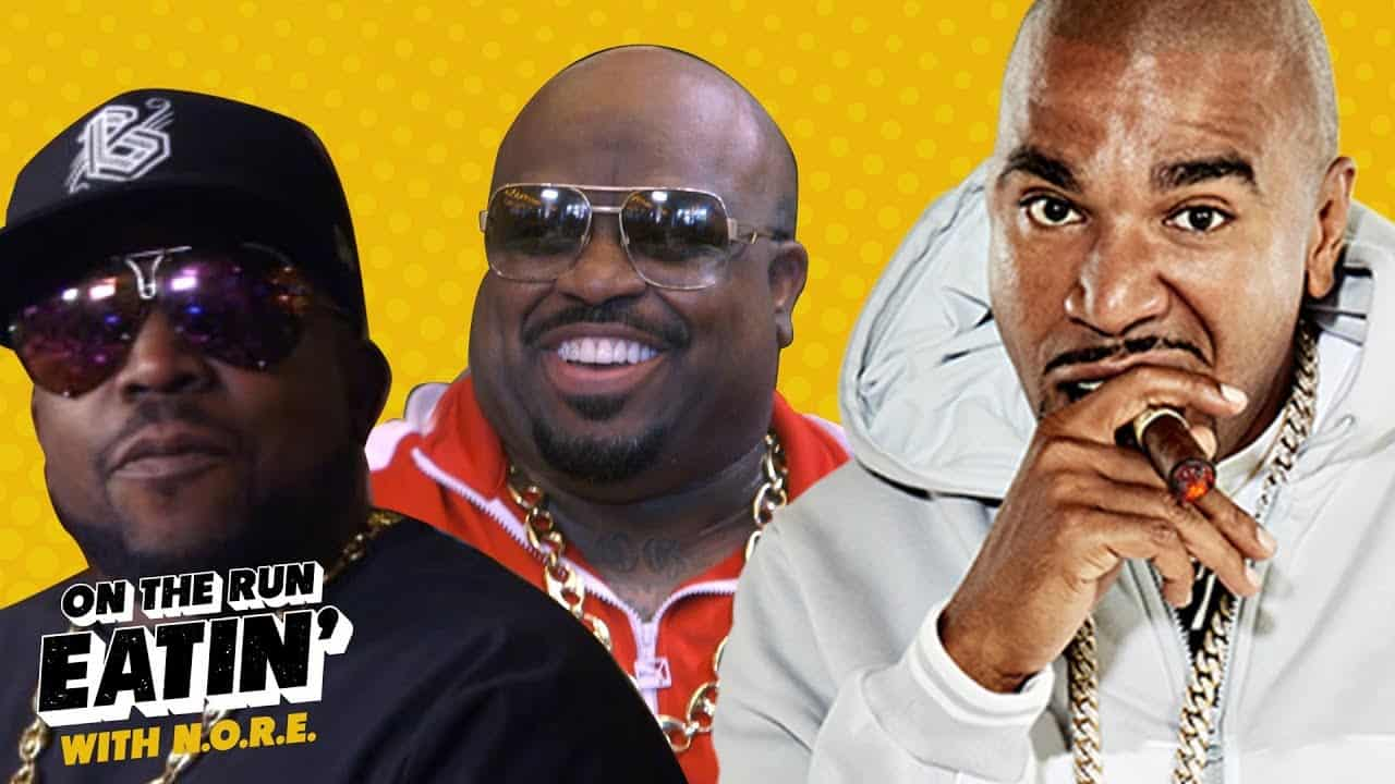 N.O.R.E. Eats Like a King In Atlanta with Big Boi and CeeLo Green | On the Run Eatin'