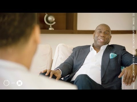 Magic Johnson Talks Business with Maverick Carter